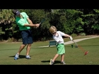 Tiny Woods: Amazing Three-Year-Old Golfer With One Arm