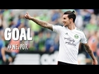 GOAL: Liam Ridgewell slices through and buries one | New England Revolution vs. Portland Timbers