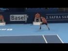 Grigor Dimitrov Hits A 'Tweener Hot Shot In Basel