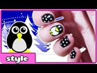 Penguin Nail Art Tutorial | DIY Penguin Nails | Cute and Easy Nail Art Designs 2014