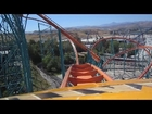 Goliath Front Seat on-ride HD POV Six Flags Magic Mountain