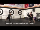 Medicine Ball Exercise - Partner Kneeling Side Throws