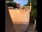 Father Kicks Son Down Skate Ramp
