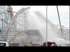 Fire breaks out on #Colossus rollercoaster at Six Flags Magic Mountain