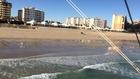 flying through the beaches of puerto Penasco Sonora Mexico