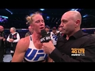 UFC 193: Holly Holm Octagon Interview