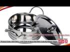 Homeshop18.com - 3 Pc Cook & Serve Set With 3 Lids By Klassic Vimal