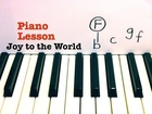 Joy to the World  ★ PIANO TUTORIAL ★ EASY PIANO LESSON WITH SHEETS ★ CHRISTMAS SONG