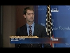 November 9, 2015: Sen. Tom Cotton speaks at the Heritage Foundation about SSDI