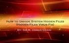 How to Unhide System Hidden Files in USB - Hidden File Virus Fix