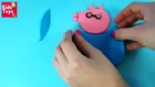 Play doh peppa pig Plastilina, How to make peppa pig father daddy pig toy of playdough