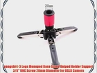 pangshi? 3 Legs Monopod Base Stand Unipod Holder Support 3/8 UNC Screw 20mm Diameter for DSLR