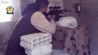 LiveLeak - Cam records a terrorist sniper shot and one lucky Syrian soldier lives to see another day