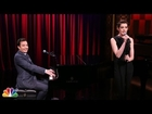 Jimmy Fallon & Anne Hathaway Sing Broadway Versions of Snoop Dogg, 50 Cent, and Kendrick Lamar